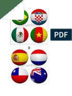 Bandeiras Paises -Bolas