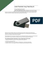 Tips Cara Memperbaiki Flashdisk Yang Tidak Bisa Di Format