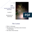 Lecture 1 — Introduction to Astronomy (White Background)