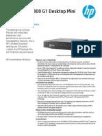 EliteDesk800G1 Desktop Mini Datasheet
