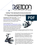 KastKing™ Triton Spinning Reel Introduced by Eposeidon