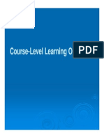Course-Level Learning Objectives
