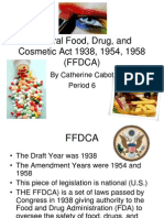 Federal Food, Drug, And Cosmetic Act CCabot