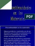 Discontiunuidades en Los Materiales