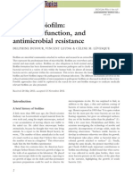 Bacterial Biofilm Structure, Function, And Antimicrobial Resistance