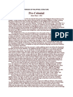 Periods of Philippine Literature