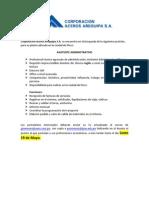 Corporación Aceros Arequipa Asistente Administrativo 16.05.14