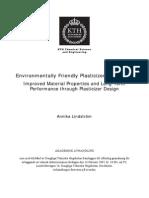 Environmentally Friendly Plasticizers for PVC