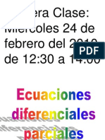 Ecuaciones Diferenciales Parciales (1)