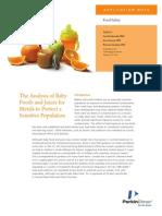 Analisa Makanan Bayi