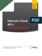 2013-12 Telecom Cloud APIs