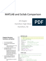 MATLAB and SciLab Comparison