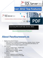 70-461 Querying MicrosoGet Latest Pass4sure 70-461 Querying Microsoft SQL Server 2012