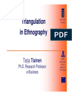 ECommerce Workshop Triangulation in Ethnography