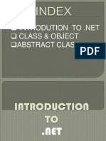 .NET INTRODUCTION PPT