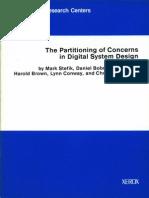 VLSI-81-3 the Partitioning of Concerns in Digital System Design