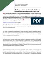 La Construction de Prototype Devient La Nouvelle Tendance a La Mode Dans Le Marche Du Secteur Public Aux Etats-Unis