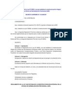 Decreto Supremo 118 2006ef