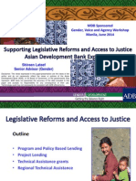Session 2. Supporting Legislative Reform and Access to Justice through policy-based lending and technical assistance