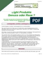Abnehmen mit Light Produkten - Genuss Oder Reue ?