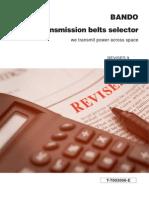 Power transmission belts selector