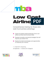 3 Day MBA in Low Cost Airlines Brochure