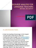 Discourse Analysis and Phonology