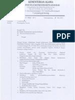 Pemanggilan Peserta Rakor Bidang Madrasah Th. 2014