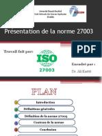 Présentation ISO 27003