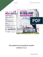 Revue de Presse Festival Urban Culture