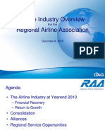 Airline Industry Overview - Regional Airline Association (2010)