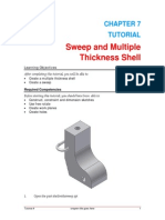 Inventor - 7 . Sweep and Multiple Shell