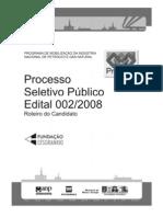 Pronimp - Petróleo e gás
