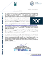 Carta TripticoMaster 2014