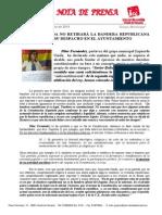 IU-Alcalá No Retirará La Bandera Republicana de Su Despacho Del Ayuntamiento