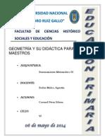 Geometrìa y Su Didáctica Para Maestros