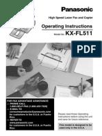 Panasonic KX-FL511 Laser Fax Machine