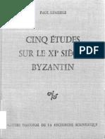 LeMerle 1977 Cinque Etudes Sur Le XIe Siecle PDF