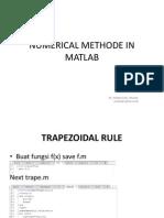 Numerik Methode in Matlab
