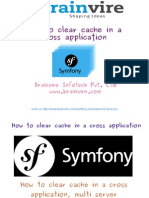 How to Clear Cache in a Symfony Cross Application