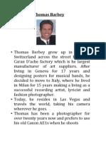 thomas barbey