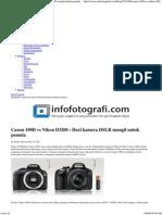 Canon 100D vs Nikon D3200 _ Duel Kamera DSLR Mungil Untuk Pemula