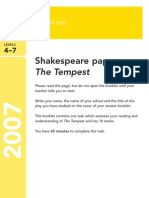 YR9 SATs - Shakespeare 2007