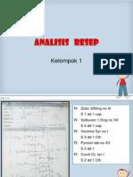 Analisis Resep