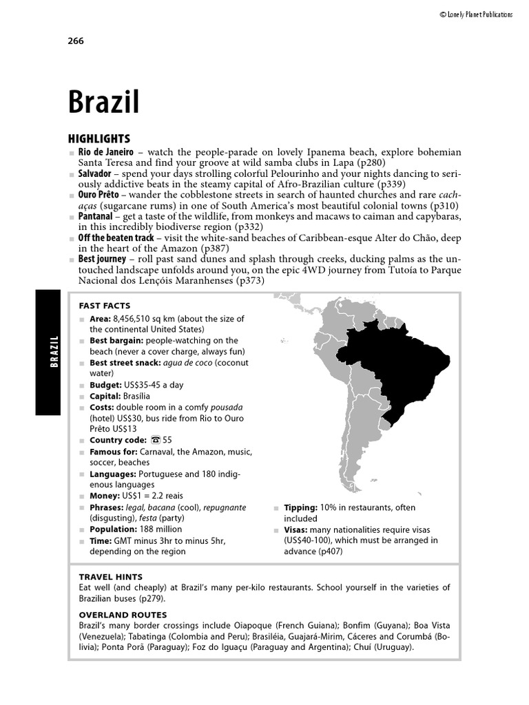 Lonely Planet - South America on a Shoestring - Brazil - 2007  befe25d511c98
