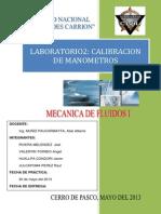 Ensayo de Laboratori -Calibracion de Manometros