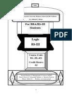 Logic Bs-III