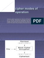 Block cipher modes of operation