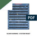 ECAM Warning System Reset