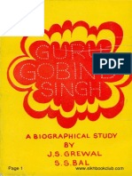 Guru Gobind Singh a Biographical Study-J S Grewal-English